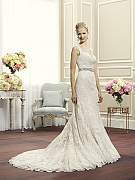 Moonlight Couture H1263 on trend couture lace wedding dresses and beaded wedding dresses