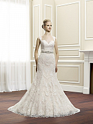 Moonlight Couture H1263 Spaghetti strap bridal gowns, sweetheart necklines, lace cap sleeve bridal gowns & more