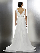 Moonlight Tango T604 comfortable bohemian lace bridal gowns for the casual bride