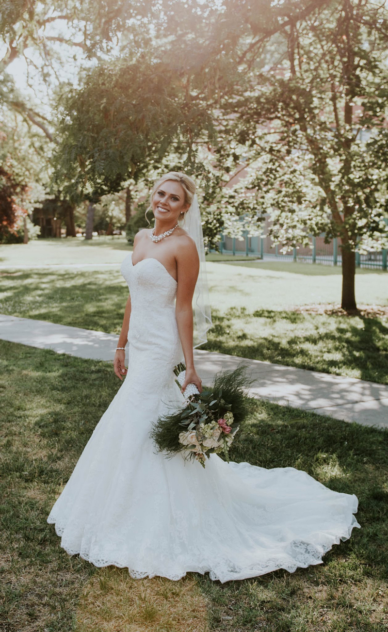 Beautiful Outdoor Wedding   Strapless Sweetheart Neckline Mermaid ...
