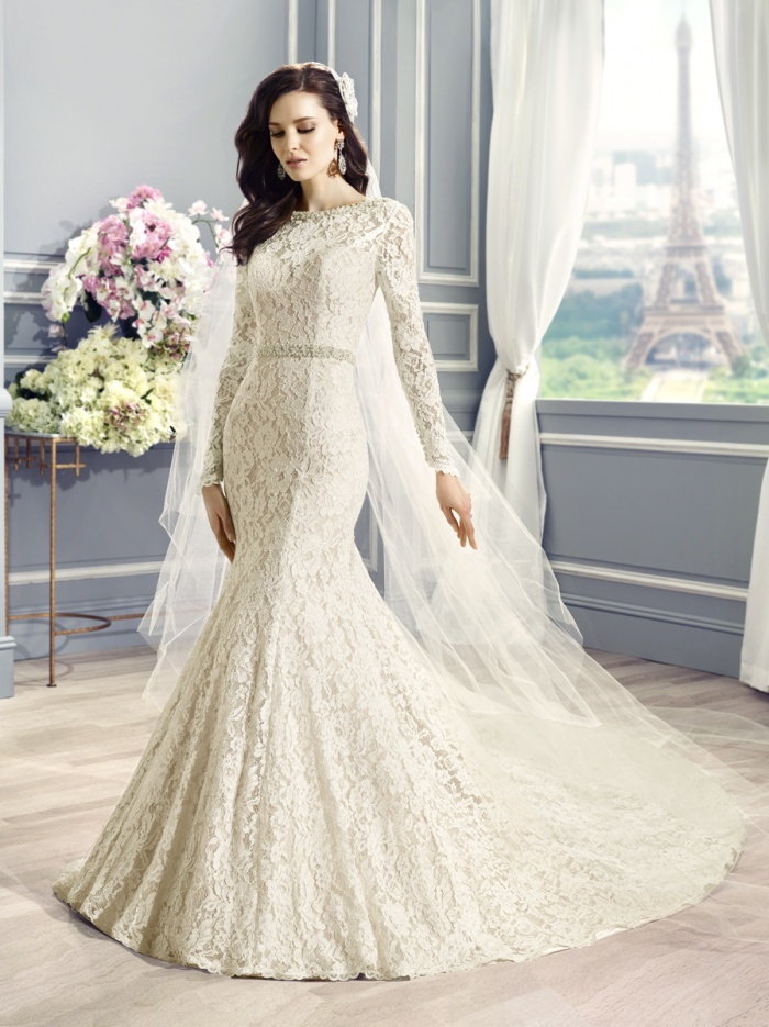 Elisa long wedding dress