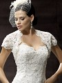 Moonlight CAP-14 lace long sleeve and sheer beaded bridal jackets