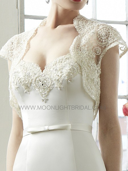 Moonlight Cap 12 lace long sleeve and sheer beaded bridal jackets