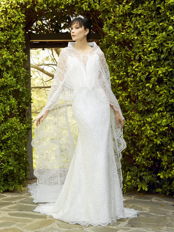 Moonlight Cap-28 lace long sleeve and sheer beaded bridal jackets