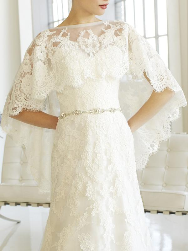 Moonlight Cap13 lace long sleeve and sheer beaded bridal jackets