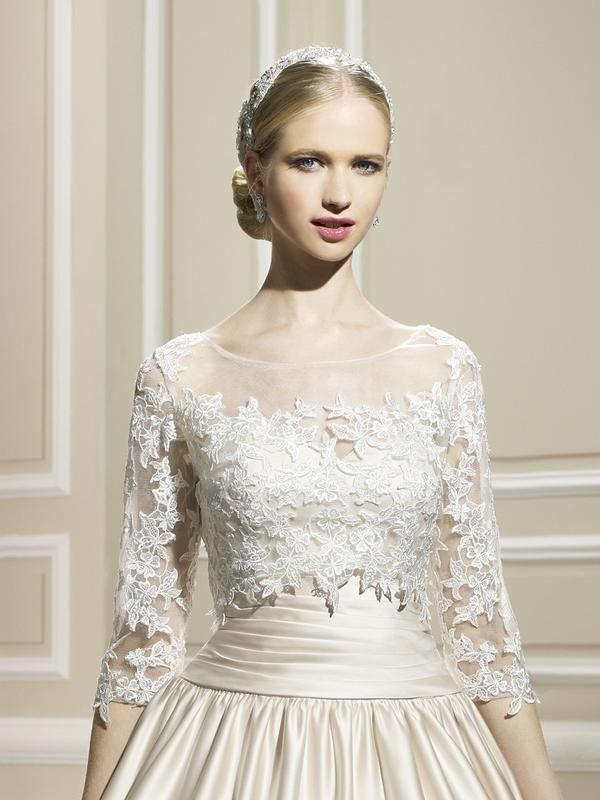 Moonlight Cap 15 lace long sleeve and sheer beaded bridal jackets
