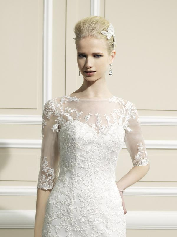 Moonlight Cap 18 lace long sleeve and sheer beaded bridal jackets