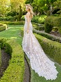 Moonlight Couture H1341 soft lace mermaid bridal gown with long semi-cathedral train