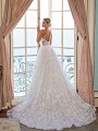 Moonlight Couture H1373 sexy strappy and illusion back ball gown wedding dress