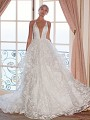 Moonlight Couture H1373 whimsical and sexy ball gown wedding dress with tiered skirt