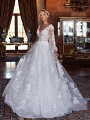 Moonlight Couture H1375 ethereal and luxe bohemian wedding dress with sleeves
