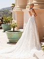 Moonlight Couture H1376 lace ball gown bridal gown with keyhole back