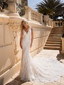Moonlight Couture H1378 vintage lace sleeveless lace wedding dress
