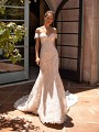 Moonlight Couture H1421 form fitting all lace mermaid wedding dress