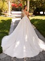 Moonlight Couture H1425 bateau back with tulle semi-cathedral wedding train