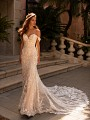 Moonlight Couture H1430 sexy sweetheart neckline and 3D lace wedding dress