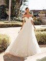 Fairytale Shimmer Net and Lace Full A-line Wedding Dress Moonlight Couture H1447