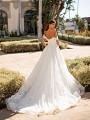 Shimmer Full A-line Wedding Dress With Long Train Moonlight Couture H1447