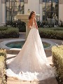 Semi-Cathedral Lace Train Ball Gown Wedding Dress Moonlight Couture H1450