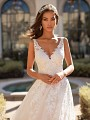 Sweetheart Neckline With Illusion Lace Strap Wedding Dress Moonlight Couture H1450