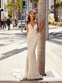Fitted Mermaid Wedding Dress With Sequin Organic Lace Moonlight Couture H1452
