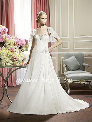 Moonlight Collection J6319 elegant bridal gowns and classic wedding dresses