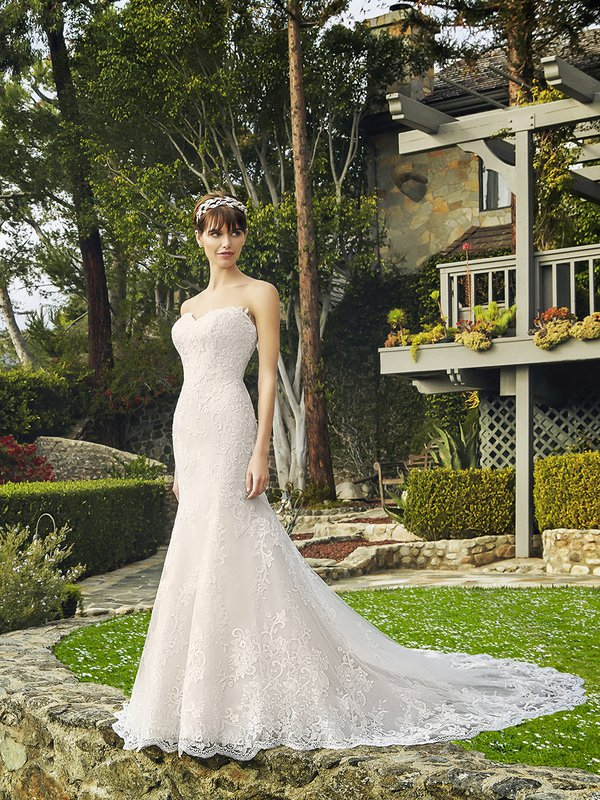 Moonlight Collection J6509 sophisticated strapless sweetheart two-tone mermaid wedding dress
