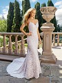 Moonlight Collection J6542 breathtaking figure-flattering lace sheath wedding dress with spaghetti straps