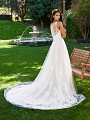 Moonlight Collection J6578B illusion back A-line lace fairytale wedding gown