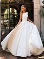 Moonlight Collection J6701 elegant mikado bridal gown