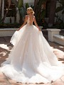 Moonlight Collection J6704 beautiful illusion low back ball gown wedding dress
