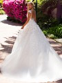 Moonlight Collection J6705 ball gown wedding dress with low back and cap sleeves