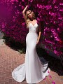 Moonlight Collection J6706 sleek crepe lace mermaid wedding dress