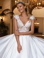 Moonlight Collection J6707 lace and satin ball gown wedding dress with pockets