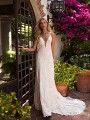 Moonlight Collection J6709 lace slim A-line wedding dress with straps