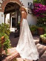 Moonlight Collection J6709 low strappy criss cross back wedding dress
