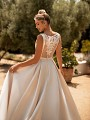 Moonlight Collection J6772 illusion lace & beaded satin ball gown