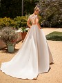 Moonlight Collection J6772 bridal ball gown with side pockets and chapel train