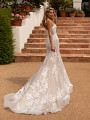 Moonlight Collection J6777 sexy organic lace mermaid bridal dress and chapel train