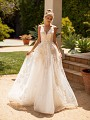 Moonlight Collection J6779 sparkly 2-in-1 A-line wedding gown with detachable mini slip
