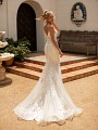 Moonlight Collection J6780 sexy low scoop illusion back mermaid wedding gown
