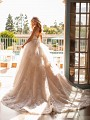 Princess Lace A-line Wedding Dress With Tiered Skirt and Sequin Skirt Moonlight Collection J6797