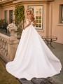 Classic Satin Princess Ball Gown Wedding Dress With 3D Lace Bodice Moonlight Collection J6799