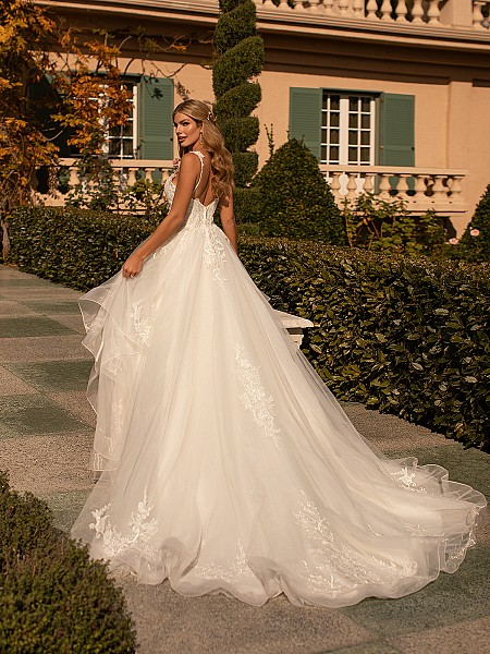 Tiered Skirt A-line Bridal Gown With Moonlight Collection J6802
