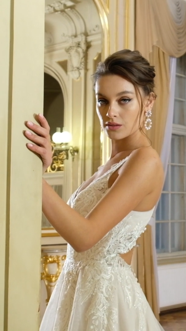 Moonlight Collection J6825 elegant bridal gowns and classic wedding dresses