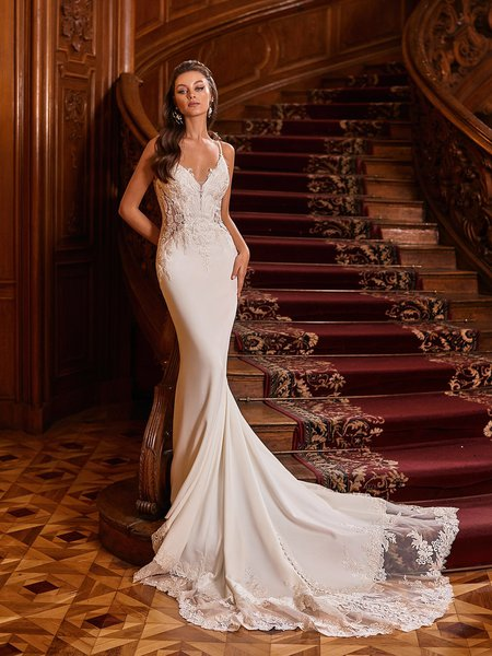 Moonlight Collection J6826 affordable wedding dresses with low backs and beading