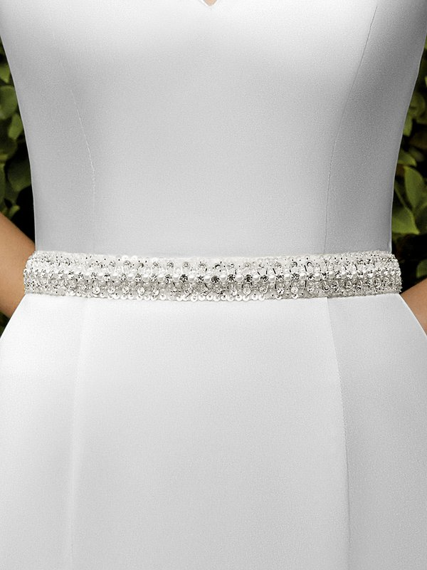Moonlight Sashes SASH-101 Beaded bridal sashes are the perfect accent for your bridal gown