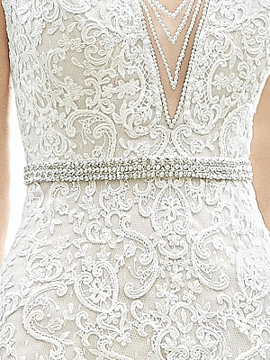 Moonlight Sashes SASH-102 Beaded bridal sashes are the perfect accent for your bridal gown