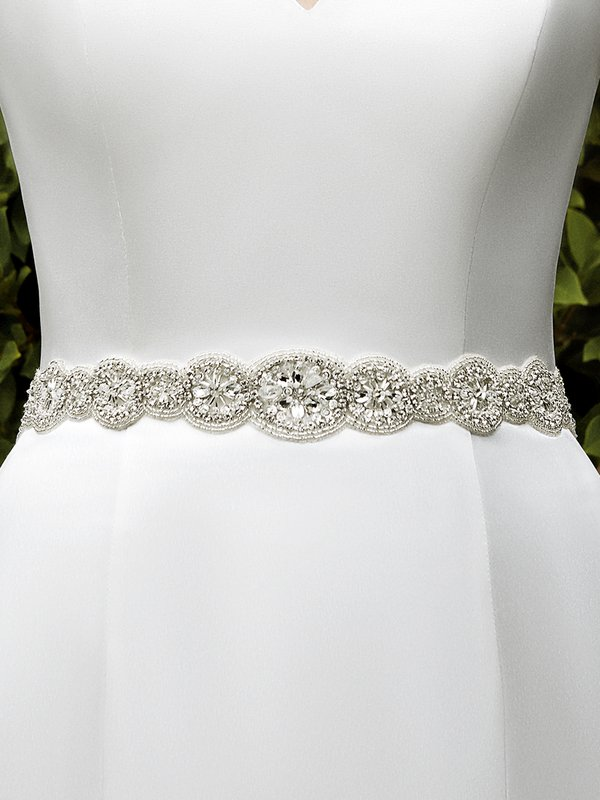 Moonlight Sashes SASH-104 Beaded bridal sashes are the perfect accent for your bridal gown