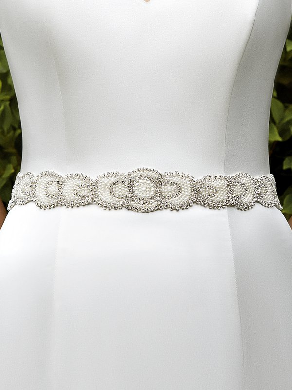 Moonlight Sashes SASH-105 Beaded bridal sashes are the perfect accent for your bridal gown